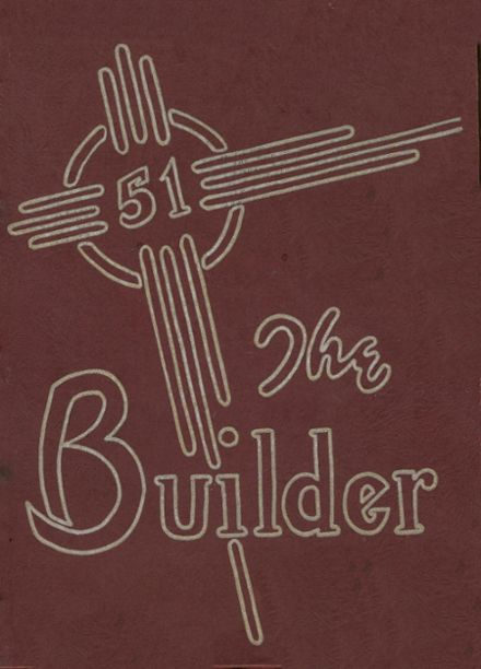 1951 Manual High School Yearbook Cover