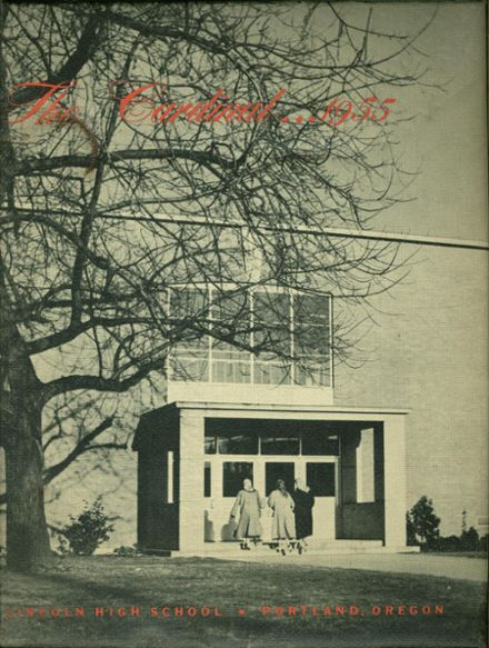 1955 Lincoln High School Yearbook Cover