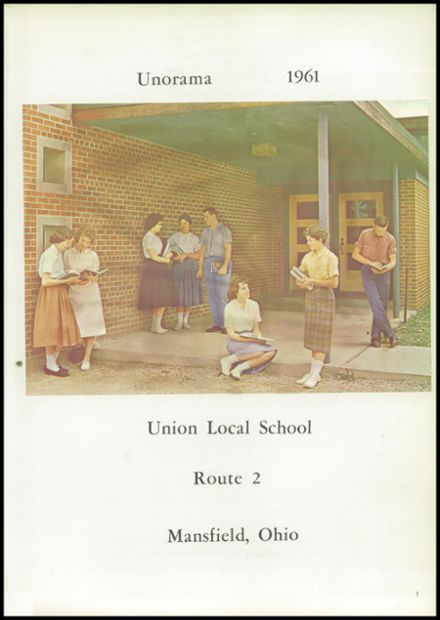 1961 Union High School Yearbook Page 5