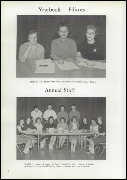 1961 Union High School Yearbook Page 8
