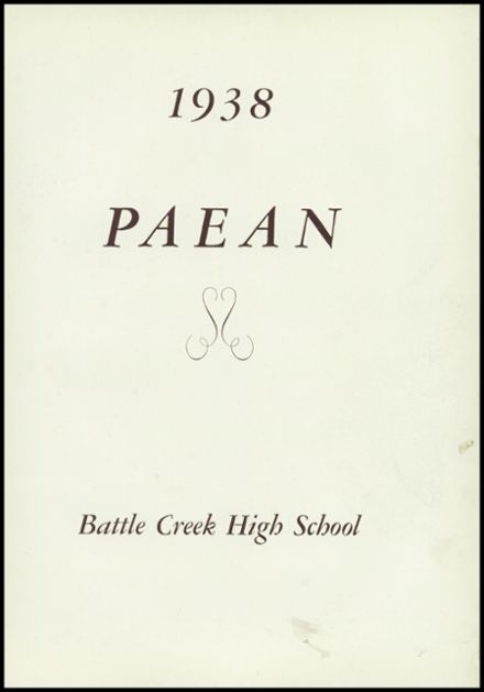 1938 Battle Creek Central High School Yearbook Page 5