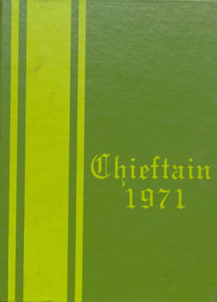 1971 White Cloud High School Yearbook Cover