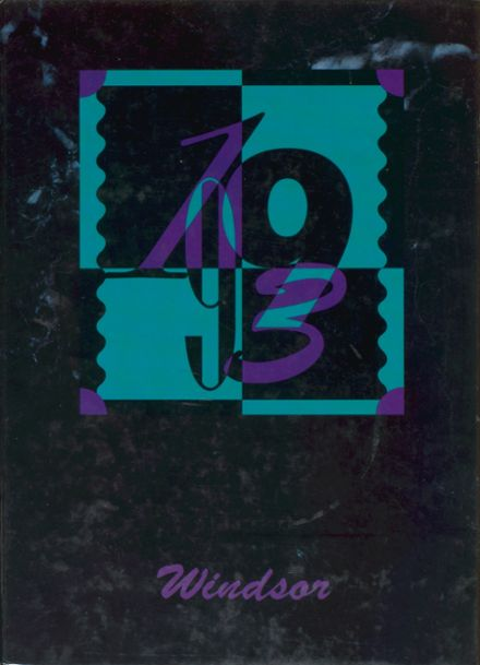 1993 Windsor High School Yearbook Cover