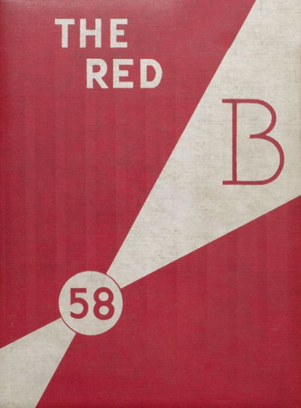 1958 Brodhead High School Yearbook Cover
