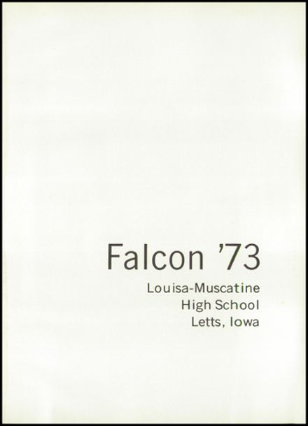 1973 Louisa-Muscatine High School Yearbook Page 5
