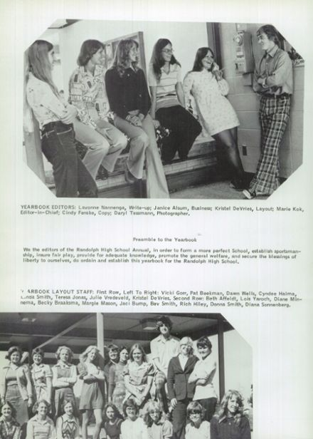 1976 Randolph High School Yearbook Page 8