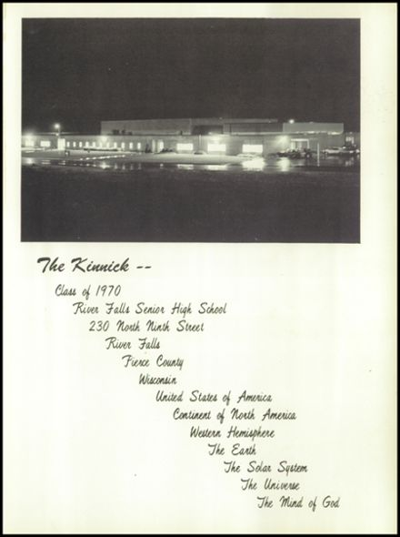 1970 River Falls High School Yearbook Page 5