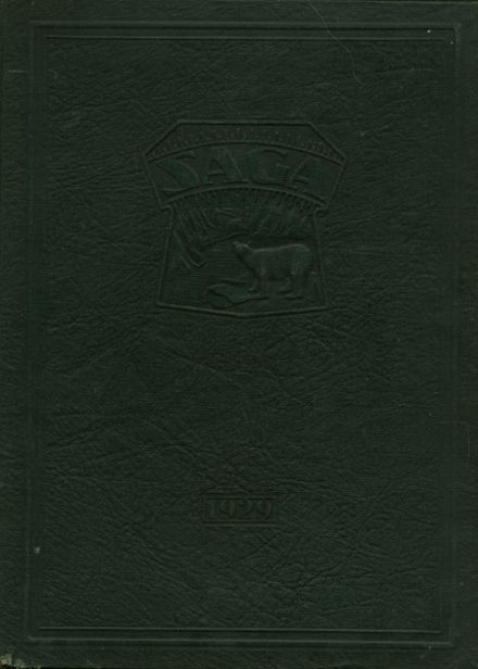 1929 Creston High School Yearbook Cover