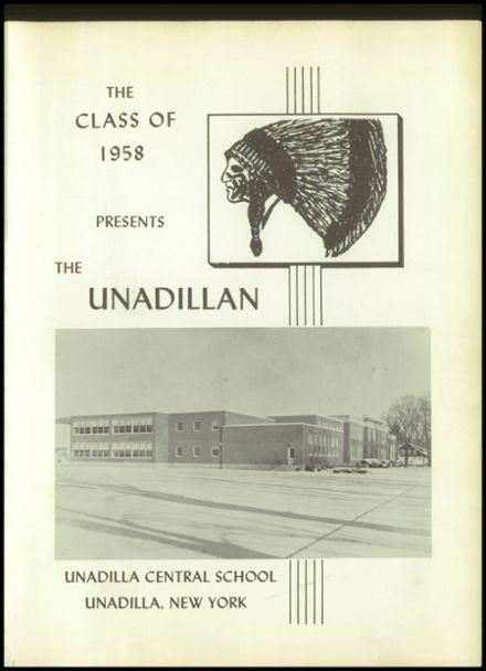 1958 Unadilla High School Yearbook Page 5