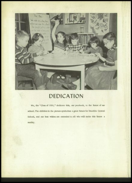 1958 Unadilla High School Yearbook Page 6