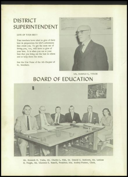 1958 Unadilla High School Yearbook Page 8