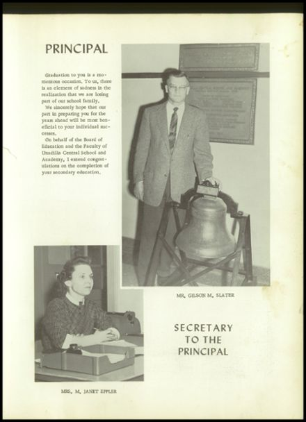 1958 Unadilla High School Yearbook Page 9