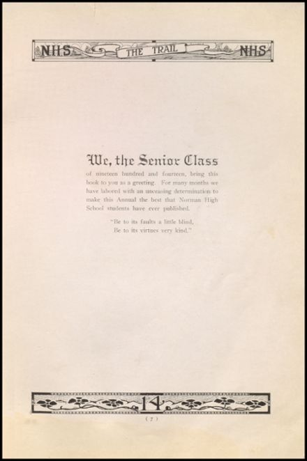 1914 Norman High School Yearbook Page 9