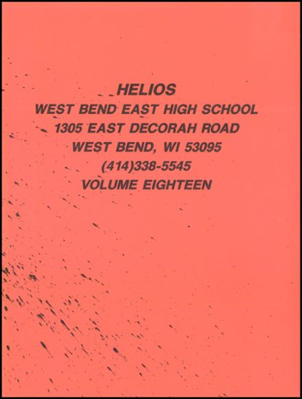 1988 West Bend High School Yearbook Page 3