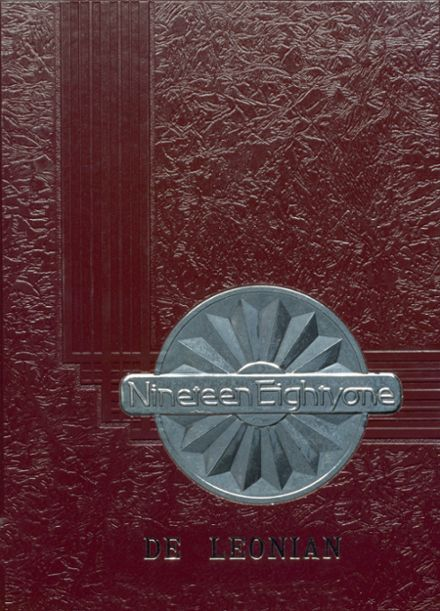 1981 DeLeon High School Yearbook Cover