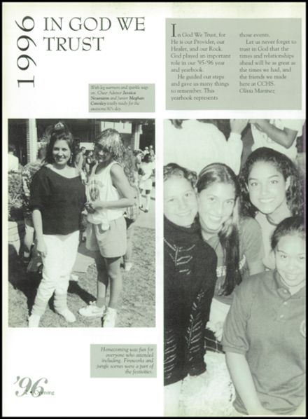 1996 Calvary Chapel School Yearbook Page 6
