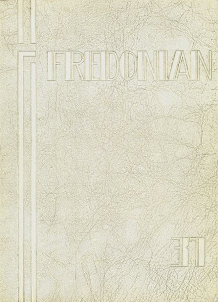 1937 Fredonia High School Yearbook Cover