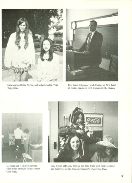 1972 Cairo High School Yearbook Page 9