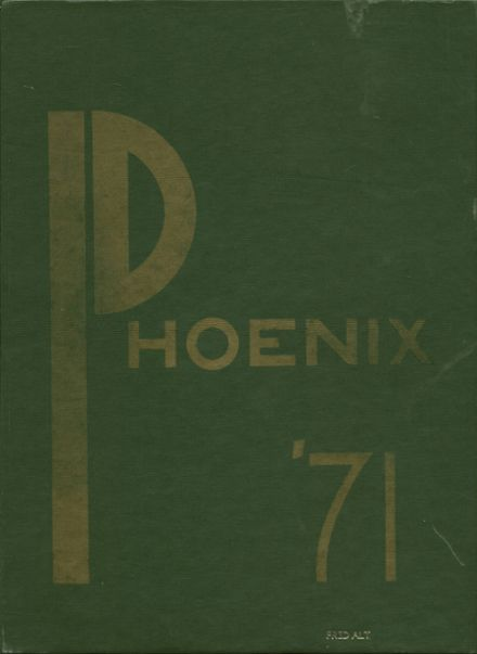 1971 Phoenixville High School Yearbook Cover