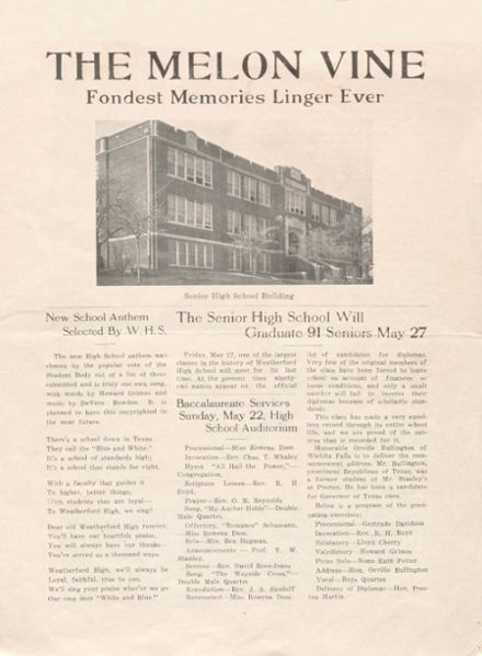 1932 Weatherford High School Yearbook Cover
