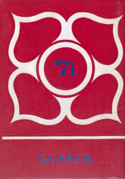 1971 Sundown High School Yearbook Cover