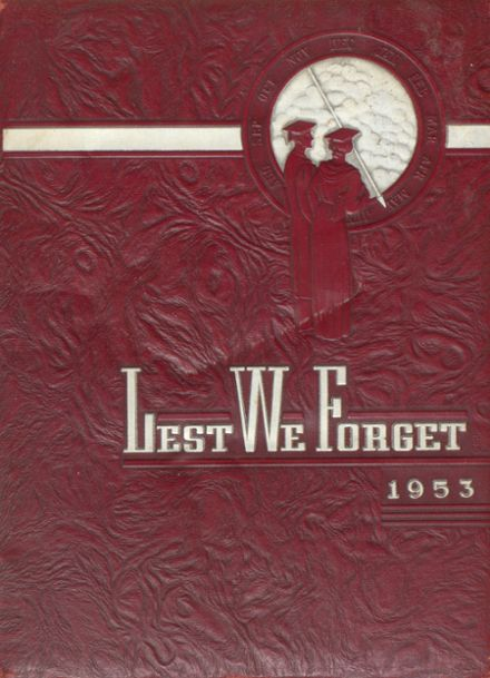 1953 Holmes High School Yearbook Cover