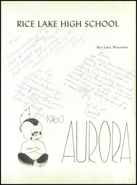 1960 Rice Lake High School Yearbook Page 5