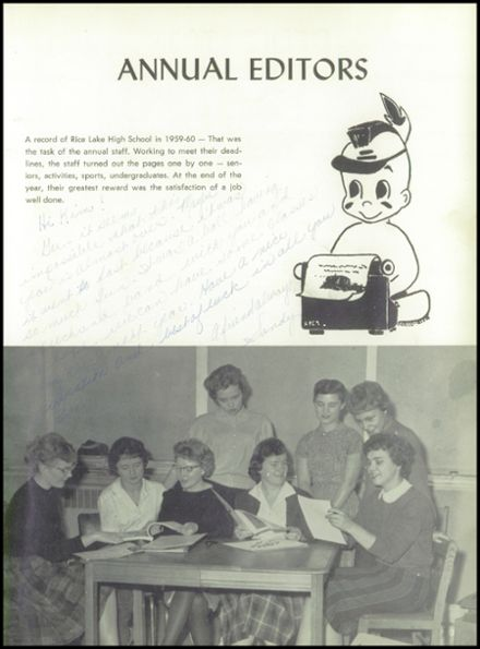 1960 Rice Lake High School Yearbook Page 7