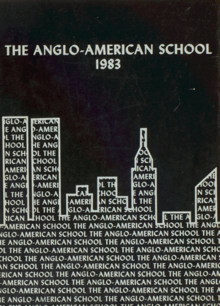 1983 Anglo-American High School Yearbook Cover