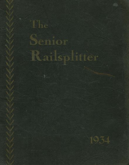 1934 Lincoln High School Yearbook Cover