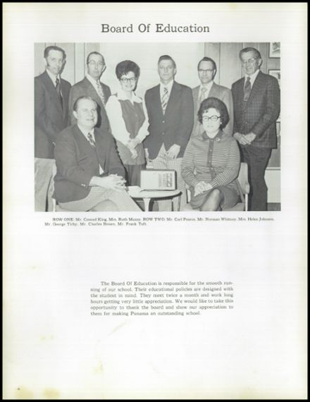 1975 Panama High School Yearbook Page 8