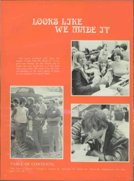 1978 Conrad High School Yearbook Page 6