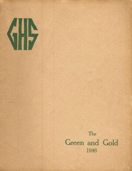 1946 Greensburg High School Yearbook Cover