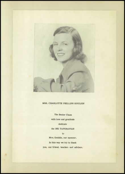 1951 Tappahannock High School Yearbook Page 9