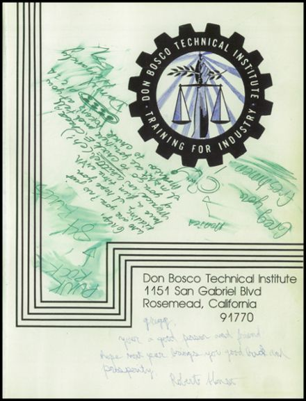 1982 Don Bosco Technical Institute Yearbook Page 5