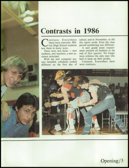 1986 Milton High School Yearbook Page 7