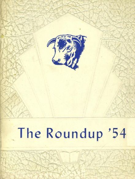 1954 Farwell High School Yearbook Cover