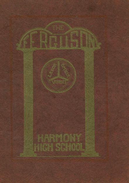 1929 Harmony High School Yearbook Page 1