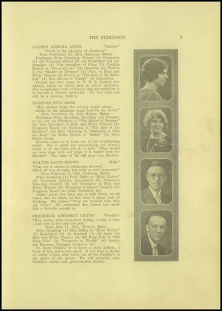 1929 Harmony High School Yearbook Page 9