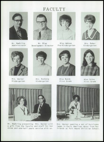 1971 Ft. Wayne Christian High School Yearbook Page 6
