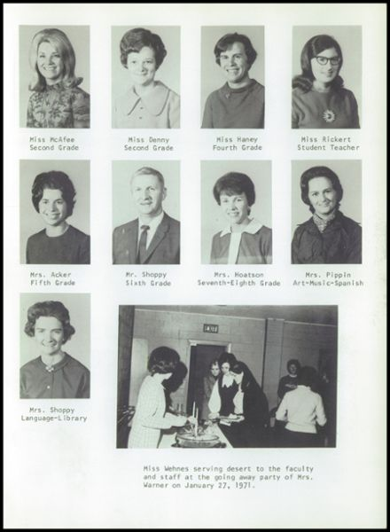 1971 Ft. Wayne Christian High School Yearbook Page 7