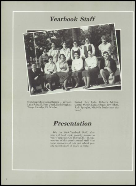 1985 Union Bible High School Yearbook Page 6