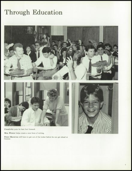 1988 Central Catholic High School Yearbook Page 9