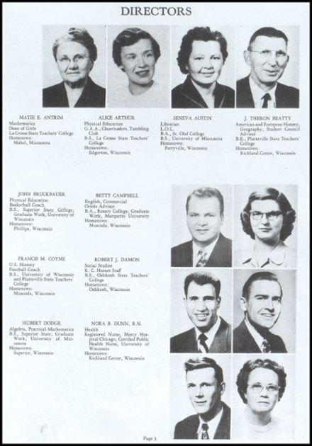 1953 Richland Center High School Yearbook Page 6