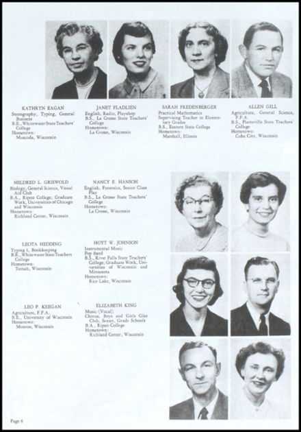 1953 Richland Center High School Yearbook Page 7