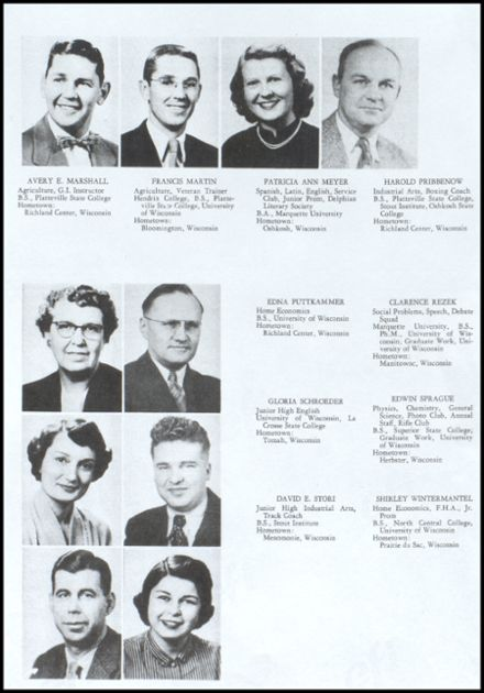 1953 Richland Center High School Yearbook Page 8