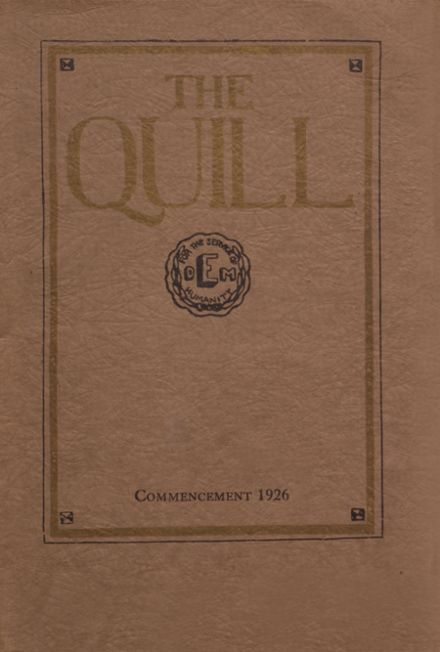 1926 East High School Yearbook Cover