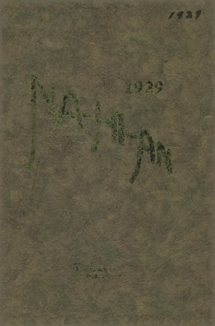 1929 Naselle-Grays River Valley High School Yearbook Cover