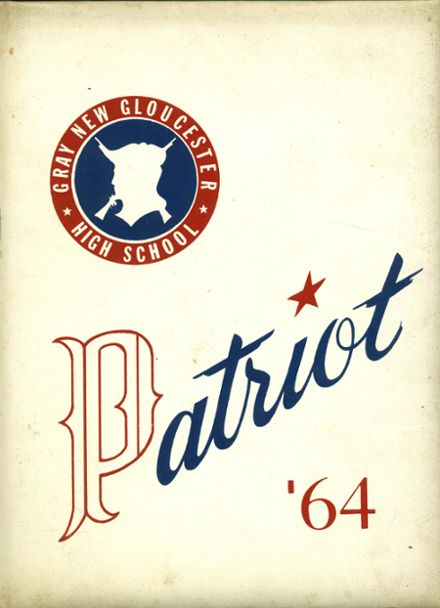 1964 Gray-New Gloucester High School Yearbook Cover