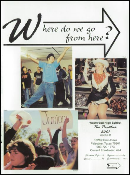 2001 Westwood High School Yearbook Page 5